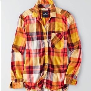 ✰american eagle women's boyfriend fit flannel ✰